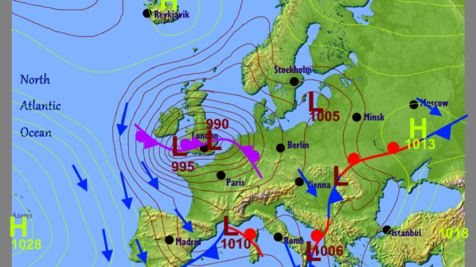 weather about europe