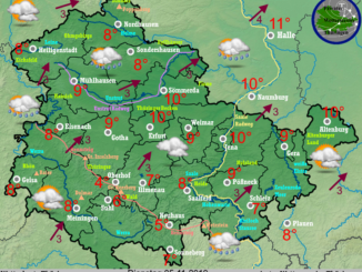 local weatherforecast thuringen, germany