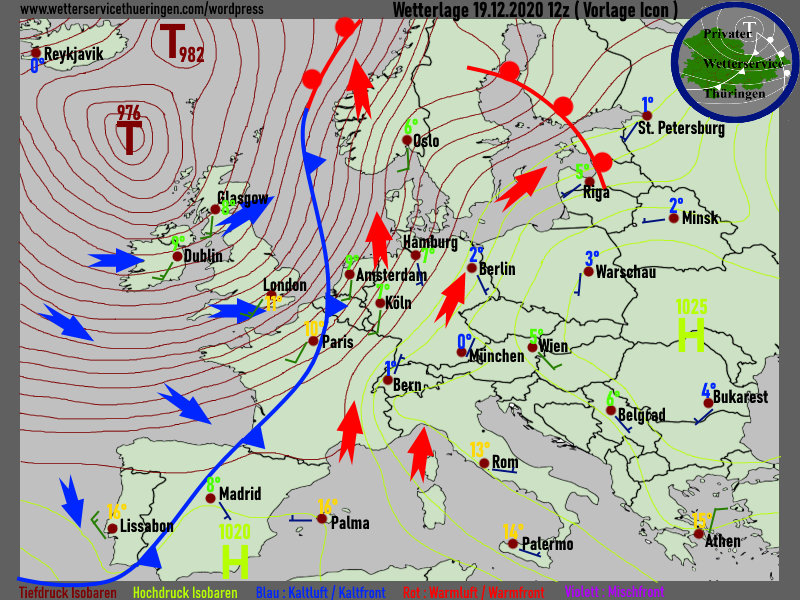 Wetterlage Europa Weatherconditions Europe