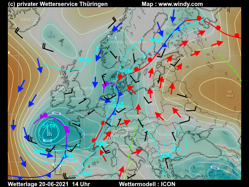 Convectiver Outlook Wetterlage